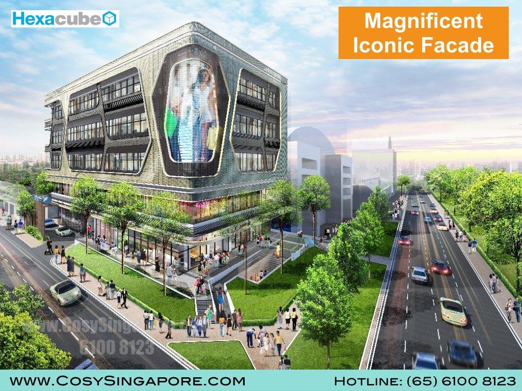 Hexacube changi facade