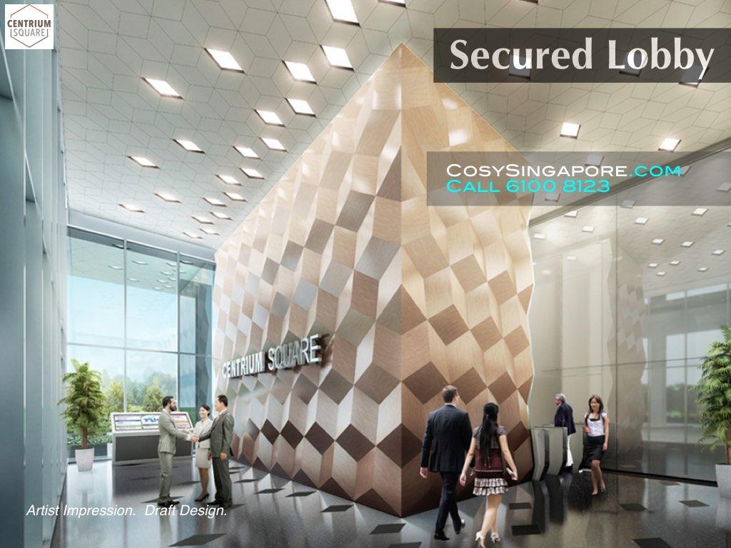 centrium square secured lobby