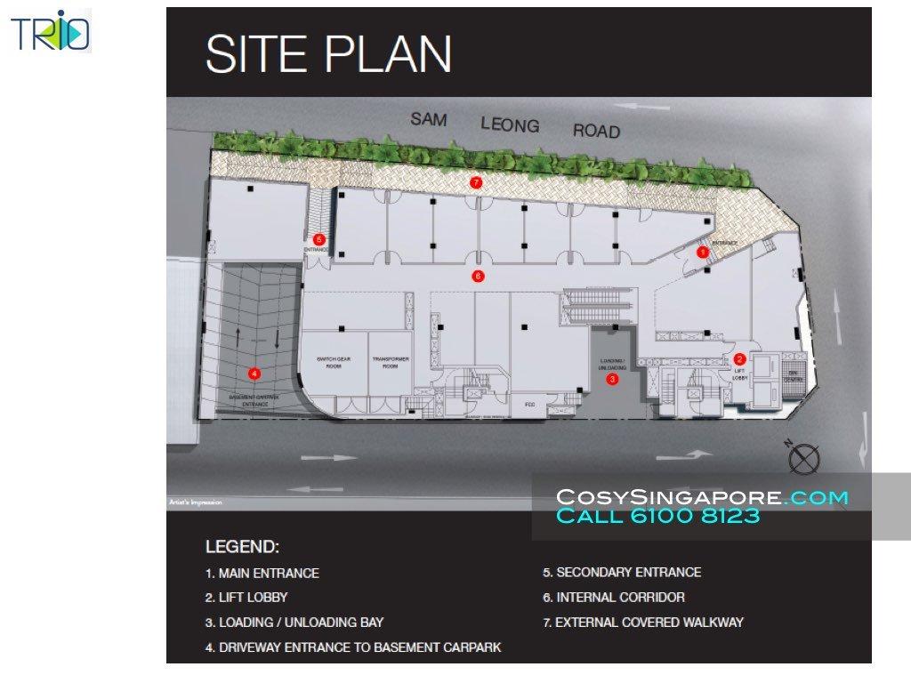 Trio site plan