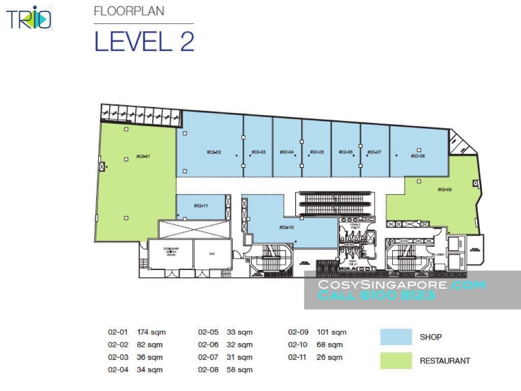 Trio level 2 floor plan