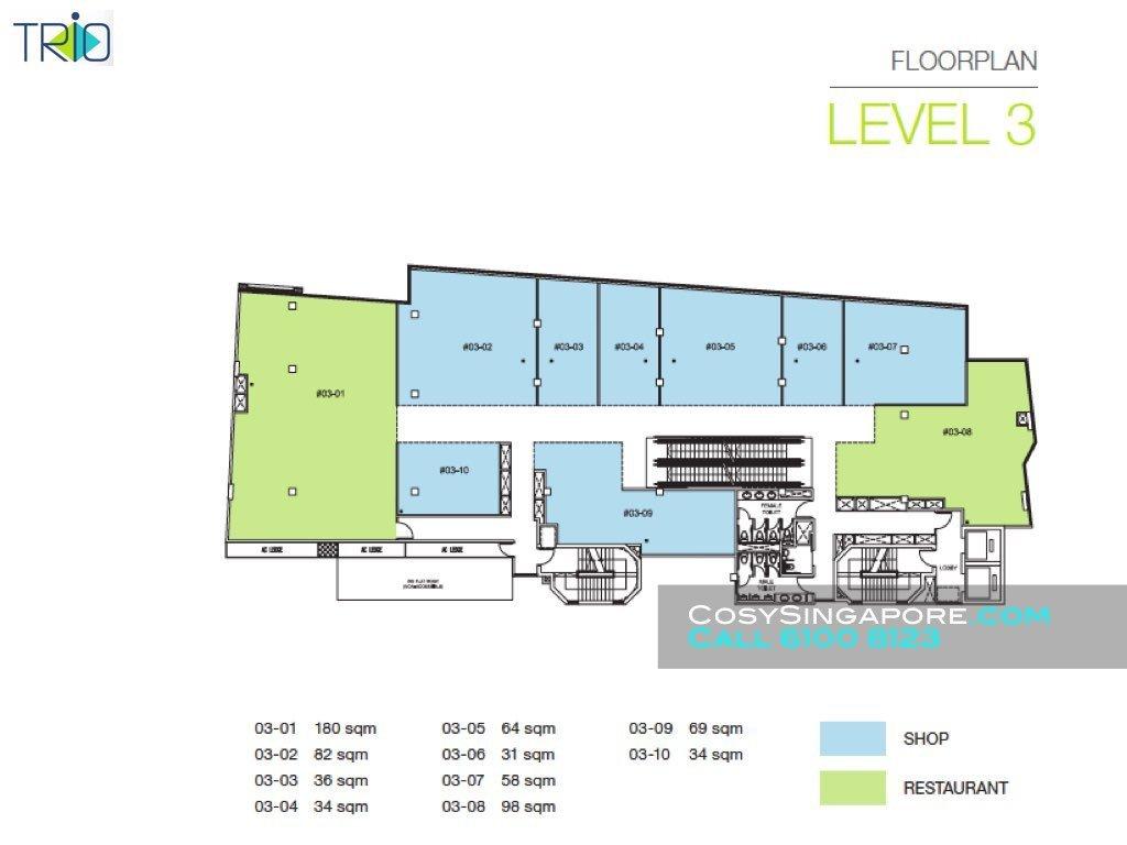 Trio level 3 floor plan