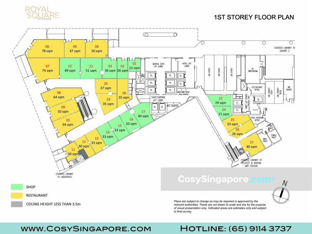 royal square level 1 floor plan