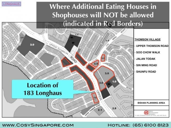 thomson additional eating houses not allowed URA