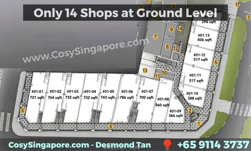 1953 site map for shops